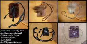 New necklace pouches - 12-23 by lupagreenwolf