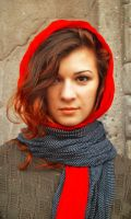 The girl with the red scarf by AMMozart