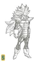 Vegeta ssj3 by bloodsplach