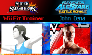 Wii Fit Trainer vs John Cena by SonicPal
