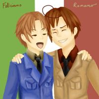 Romano and Italy Request Google+ by HawkStripeh
