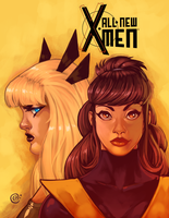 Kitty and Magik by redeve