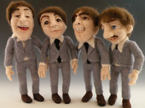 The Beatles - Needle Felted by FeltAlive