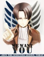 Lance Corporal Rivaille: Wants You by kuricurry