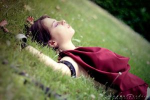 DA: Origins Morrigan - Rest by Achico-Xion