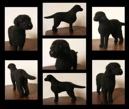 Holly - needle felted dog by flyingduster
