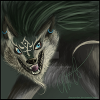 Wolf Link Painting by dannywins