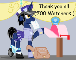 Meassage For 700 by EvilFrenzy