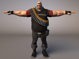 Team Fortress Heavy Color by UpsilonEexe