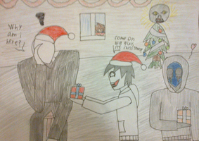 Christmas with Creepypasta by DarkZekrom5
