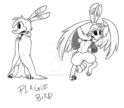 FnaTI SWS: Plague Bird Back by Crystalchan2D