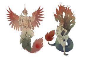APH Thailand and Cambodia : Garuda and Naga by gemmingi