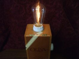 Cigar Box Lamp Style 2 by TheOldRadioShop