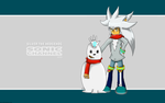 Silver and His Snowman Wallpaper by Gi203