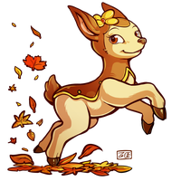 PokeddeXY - Deerling by Electrical-Socket