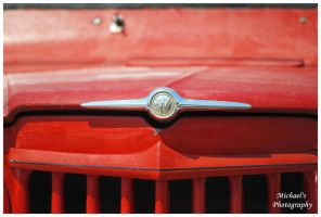 The Hood Emblem On A Willys Pickup Truck by TheMan268