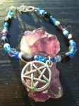Frozen Glory - Amethyst Pentacle by TheMagickCats