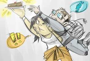 Behold, CAKE! by Loeobot
