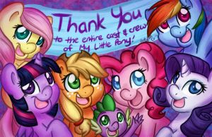 Thank You to the entire staff of My Little Pony by LeekFish