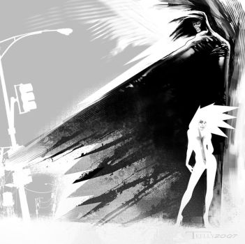 Cloak and Dagger by artist Tom Kelly by TomKellyART