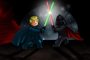 Lego Battle by ValerieGallery