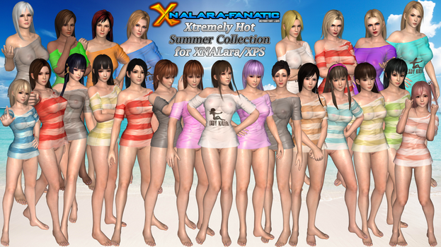 DOA5LR - Xtremely Hot Summer Collection for XPS by XNALara-Fanatic