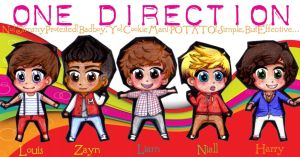 One Direction Chibis by OutskirtsOfInsanity