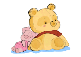 Piglet and Pooh by Fartboob