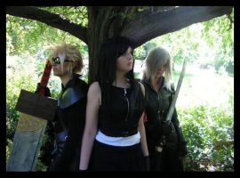 Cloud, Tifa, Kadaj by KellyJane