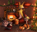 Commission: Comfy Christmas Group by MarikBentusi