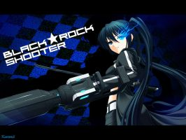 Black Rock Shooter Wallpaper by Kureemii