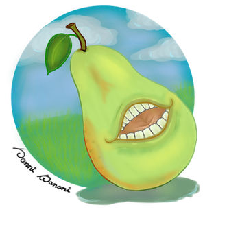Smiling Pear by VanniBanni