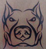Tribal Style Pitbull II by Alexandros-Jorgetto
