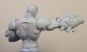 Cyborg sculpt back view by BLACKPLAGUE1348