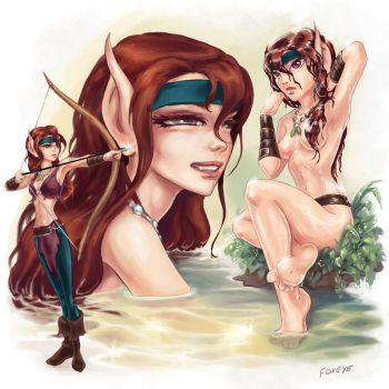 2014 ElfQuest Fan Art Calendar: Crescent by Foxeye