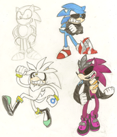 Sonic Sketch 4 by Weretoons101