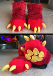 Red Fursuit Sockpaws by TECHNlCOLOUR