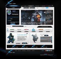 Game I Web Hosting Template Blue by adiartdessing