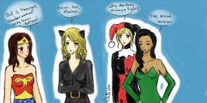 Faberry Brittana - Costumes by lemonpie-art