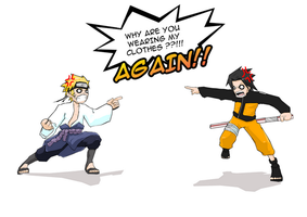 naruto and sasuke mixup 2? by hermitboi