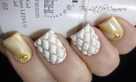Quilted Nail Design by TenLittleCanvases