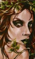 Poison Ivy ACEO by sullen-skrewt