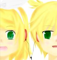 Kagamine Twins by gaixas1
