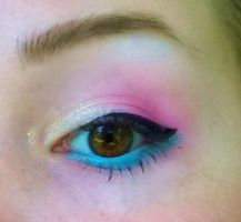 Pansexual Flag Makeup by HeeLash