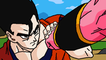 Ultimate Gohan vs Buu by Jarcuto