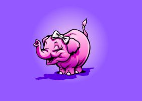 Pink Elephant by obxrussell