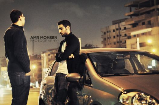in the street by Amr-Mohsen