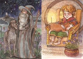the hobbit characters and their pets by ThePyf