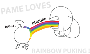 Rainbow Puking by PameInc