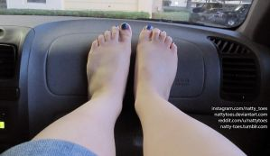 Lavender Dashboard Feet by NattyToes